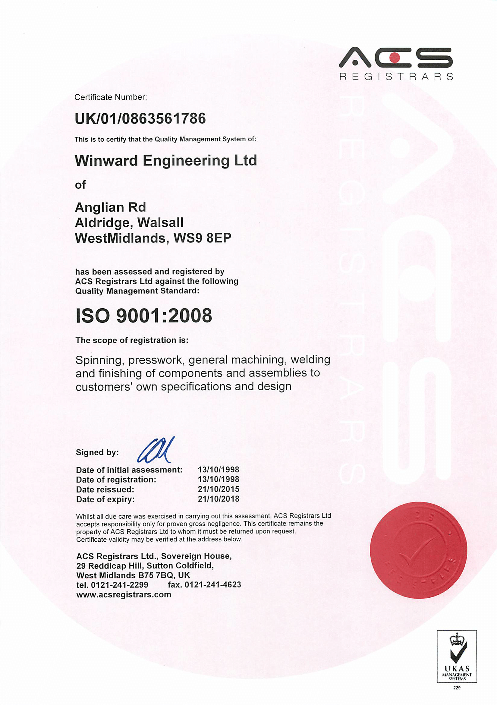 Iso 90012008 certified top quality metal works certificate1 acsiso certificate2015 2018 1 1betcityfo Gallery