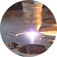 Plasma-laser-cutting